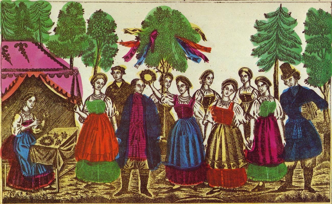 *** Зелені-свята святки Трійця - традиції-українського-народу ***