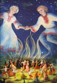*** Купальська традиція належить до найдавніших часів, до первісних ритуалів на честь життєдайного Дажбога – Сонця ***