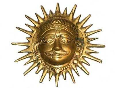 *** Surya Murthi - golden God face ***